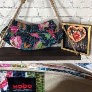 Hobo International Floral Snake Pattern Clutch